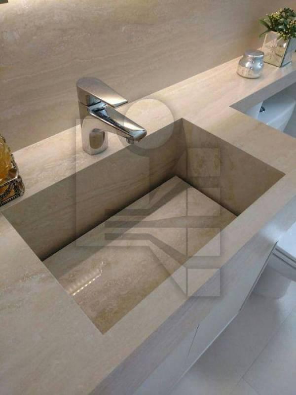 Comprar Lavatório com Cuba Esculpida Vila Marisa Mazzei - Lavabos de Mármore para Banheiro