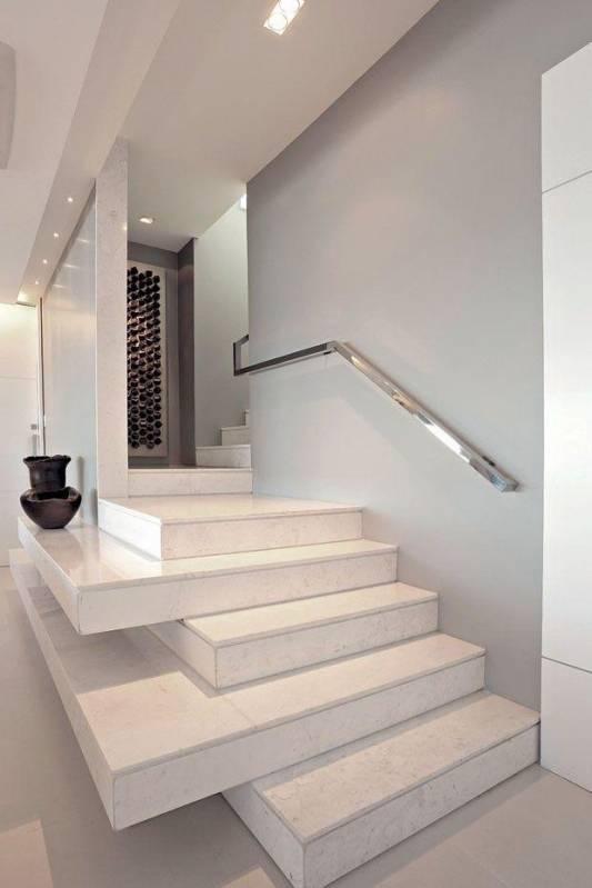 Escada de Mármore Branco Preço Raposo Tavares - Escada com Mármore
