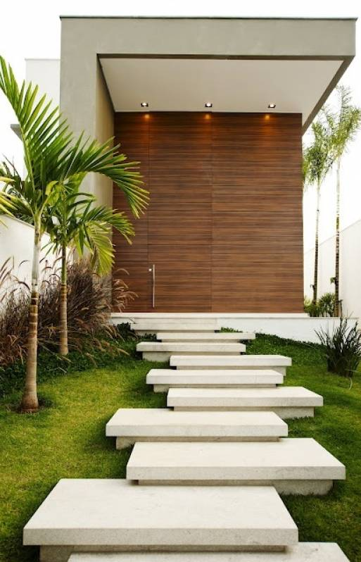Granito para Fachada Residencial Araçatuba - Fachada de Casa com Mármore