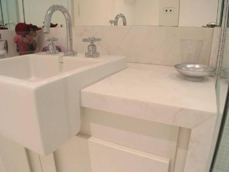Lavabo para área Externa de Mármore Rio Claro - Lavatório para Banheiro em Mármore