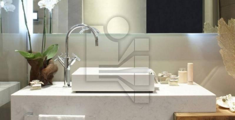 Lavatório com Cuba Esculpida Preço Jabaquara - Lavatório para Banheiro em Mármore