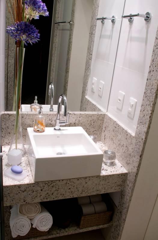 Lavatório em Mármore Silestone Pedreira - Lavatório para Banheiro em Mármore