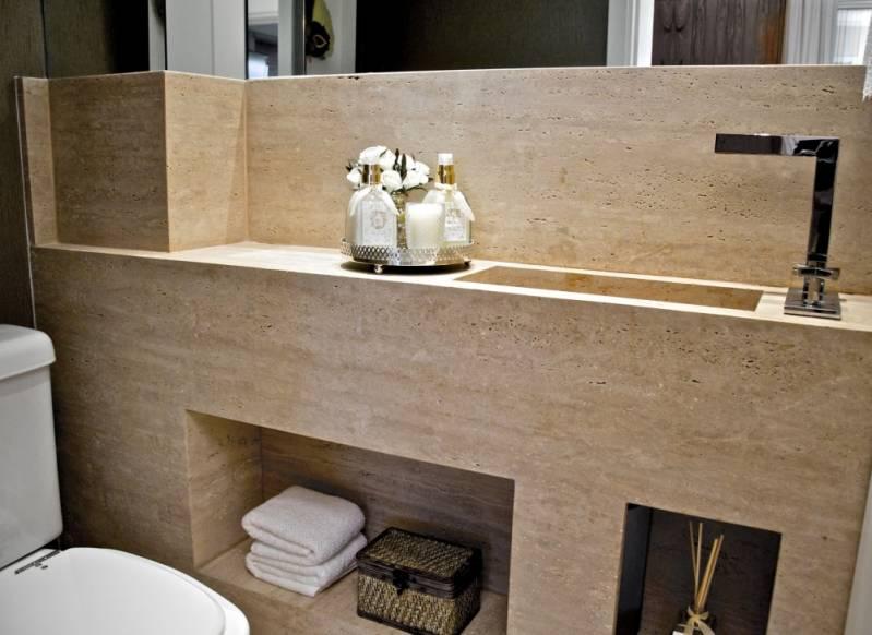 Lavatório para Banheiro em Mármore Campo Limpo - Lavatório para Banheiro em Mármore