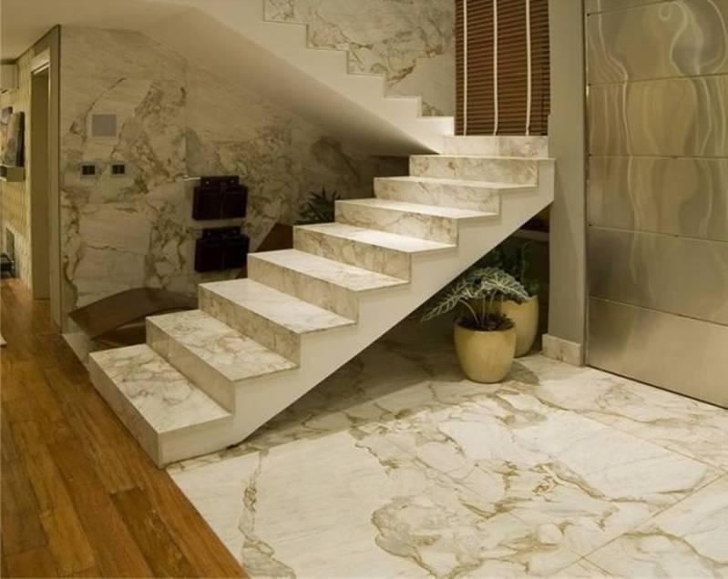 Pedra de Mármore na Escada Vila Gustavo - Escada de Granito Branco