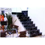 escada de mármore preto preço Mendonça